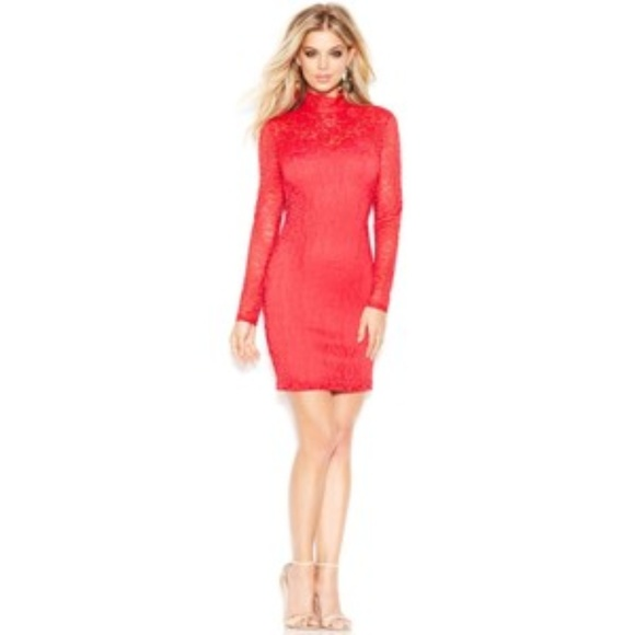 NWT Guess red lace dress Valentines Day